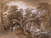 A Woodland Pool with Rocks and Plants von Thomas Gainsborough