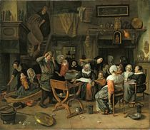 The Christening Feast, 1668 by Jan Havicksz Steen