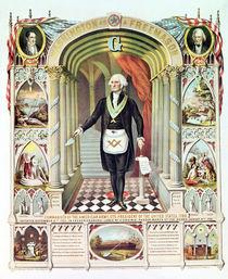 George Washington as a Freemason by American School