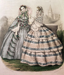 Day Dress for 1858, engraved by Barreau von French School
