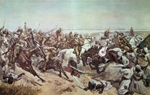 Charge of the 21st Lancers at Omdurman by Richard Caton II Woodville