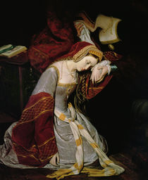 Anne Boleyn in the Tower, detail by Edouard Cibot