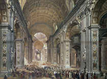 Interior of St. Peter's, Rome von Louis Haghe