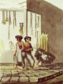 Pampa Indians at a Store in the Indian Market of Buenos Aires by Emeric Essex Vidal