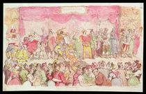Richardson's Theatre, published by Ackermann's von Thomas Rowlandson