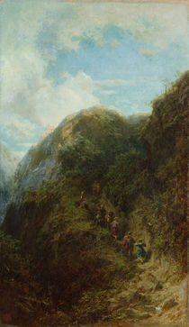 Tourists in the Mountain by Carl Spitzweg