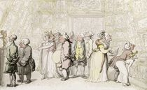 Viewing at the Royal Academy by Thomas Rowlandson