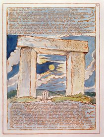 'And this the Form of Mighty Hand...' by William Blake