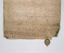 Ecclesiastical deed of the Grand Duke of Moscow by Russian School