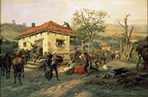 A Scene from the Russian-Turkish War in 1876-77 by Pawel Kowalewsky