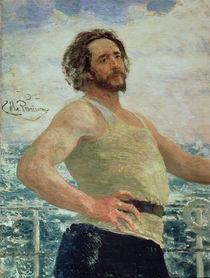 Portrait of Author Leonid Andreev von Ilya Efimovich Repin