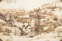 Arno Landscape, 5th August by Leonardo Da Vinci