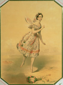 Dancer Maria Taglioni in the ballet 'Sylphides' by Russian School