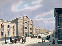 The Synodal Printing house at Nikolyskaya street on Moscow by Russian School