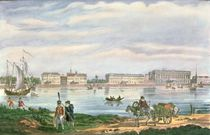 The Marble Palace and the Neva Embankment in St. Petersburg by Russian School