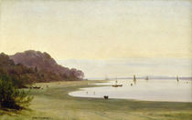 The shore of the Elbe by Marcus Johann Haeselich