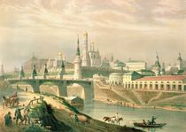 View of the Moscow Kremlin by Paul Marie Roussel