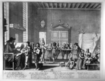 The School Master by Abraham Bosse