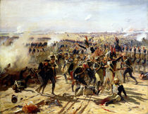 The Battle of Essling, May 1809 by Fernand Cormon