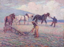 The Turn-Rice Plough, c.1909 by Robert Polhill Bevan