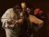 The Incredulity of St. Thomas by Michelangelo Merisi da Caravaggio
