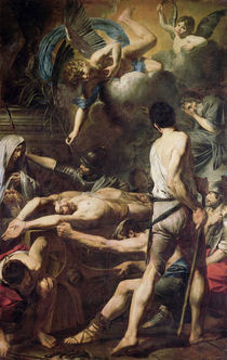 Martyrdom of St. Processus and St. Martinian von Valentin de Boulogne