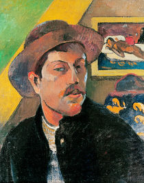 Self Portrait in a Hat, 1893-94 von Paul Gauguin