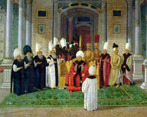 Reception at the Court of the Sultan Selim III by Turkish School