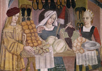 The Fruit Sellers' Stand, detail from 'The Fruit and Vegetable Market' by Italian School