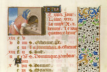 Ms 134 August: Baking Bread von French School