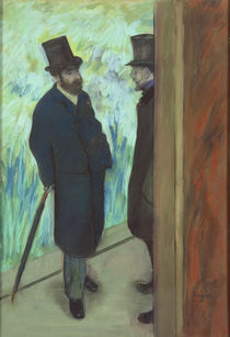 Friends at the Theatre, Ludovic Halevy and Albert Cave 1878-79 von Edgar Degas