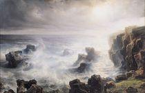 Storm off the Coast of Belle-Ile von Jean Antoine Theodore Gudin