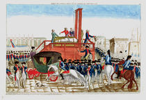 Execution of Louis XVI 21st January 1793 by French School