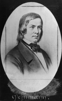 Robert Schumann engraved from a photograph by Jacotin