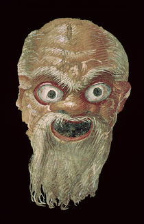 Theatre Mask, East Wall, Oecus 5 by Roman