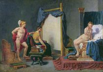 Apelles Painting Campaspe in the Presence of Alexander the Great by Jacques Louis David
