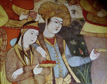 Nobles at the Court of Shah Abbas I by Persian School