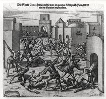 Siege of Cuzco by Francis Pizarro in 1531-32 von German School