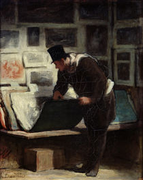 The Collector of Engravings by Honore Daumier