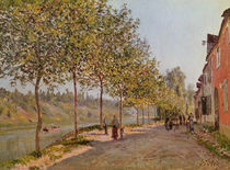 June Morning in Saint-Mammes von Alfred Sisley