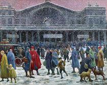 Gare de l'Est Under Snow, 1917 von Maximilien Luce