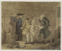 The Author and his Publisher by Thomas Rowlandson
