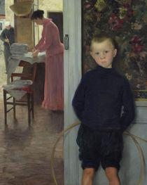 Interior with Women and a Child von Paul Mathey