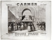 Cover of the score of piano quadrille from 'Carmen' by Edouard Strauss von A. Lamy