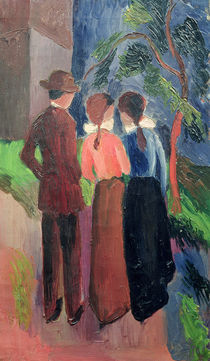 The Walk, 1914 von August Macke