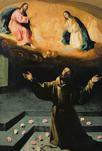 St. Francis of Assisi, or The Miracle of the Roses von Francisco de Zurbaran