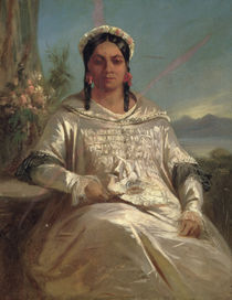 Queen Pomare IV of Tahiti by Charles Giraud