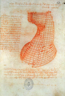 Drawing of the Ironwork Casting Mould for the Head of the Sforza Horse by Leonardo Da Vinci