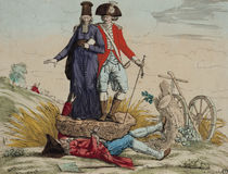 Revolutionary cartoon about 'Tithes von French School
