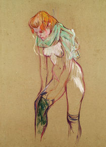 Woman Pulling Up her Stocking by Henri de Toulouse-Lautrec